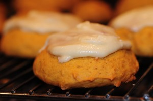 Cream Cheese Frosted Pumpkin Cookies Cakelets