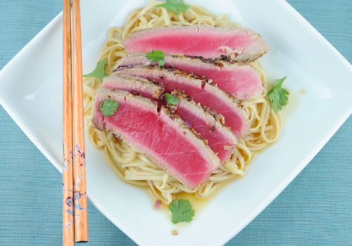 Tuna with Udon Noodles