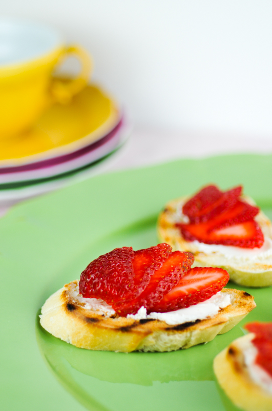 Post image for Goat Cheese and Strawberry Tartine-French Fridays with Dorie